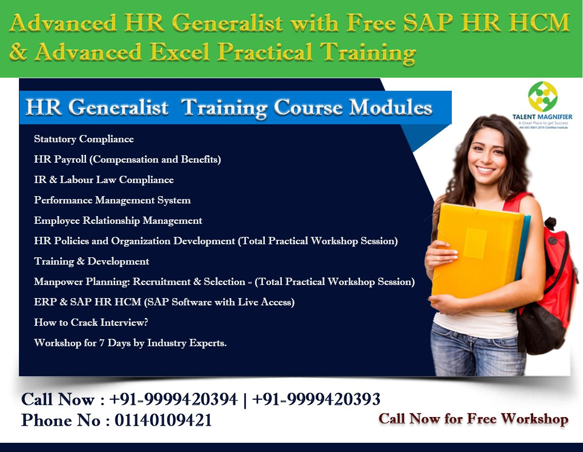 Spark Future Through #HR #Generalist #Training #Courses By