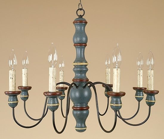 Primitive Country Chandelier - Kitchen Lighting - Dining Room Light - Elders #Country