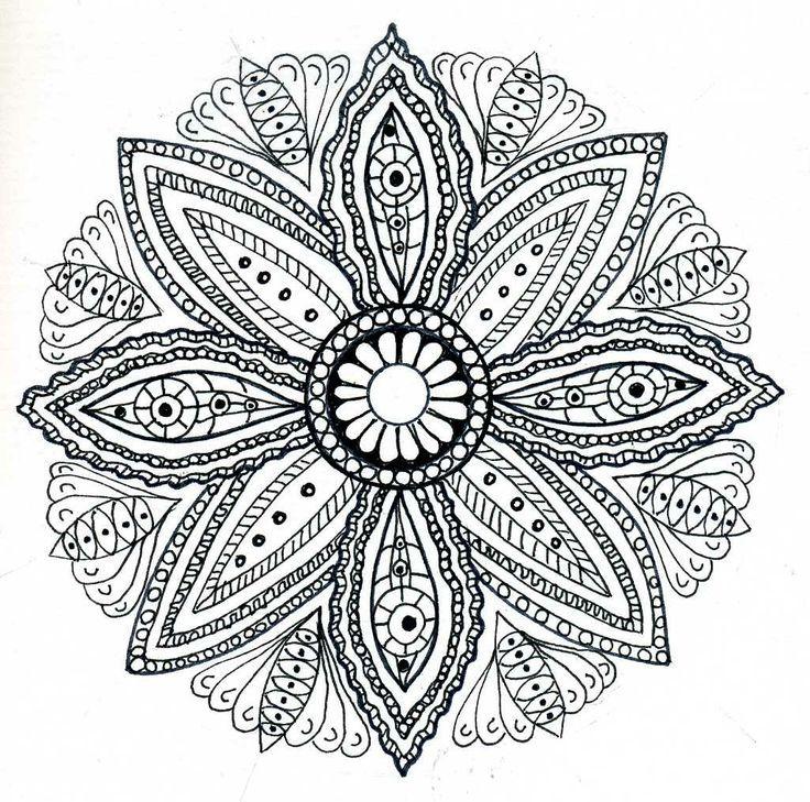 Free Mandala   Drawing Mandalas   Join my grown-up coloring group on ...