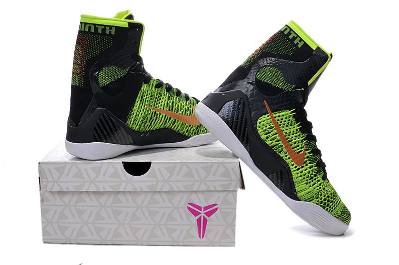 the latest c2601 bbfcf 2017 Nike High Quality Kobe 9 Elite Black Mamba Blackout BHM Christmas Men  Basketball Shoes KB 9 IX High Sneakers With Box size40-46-030