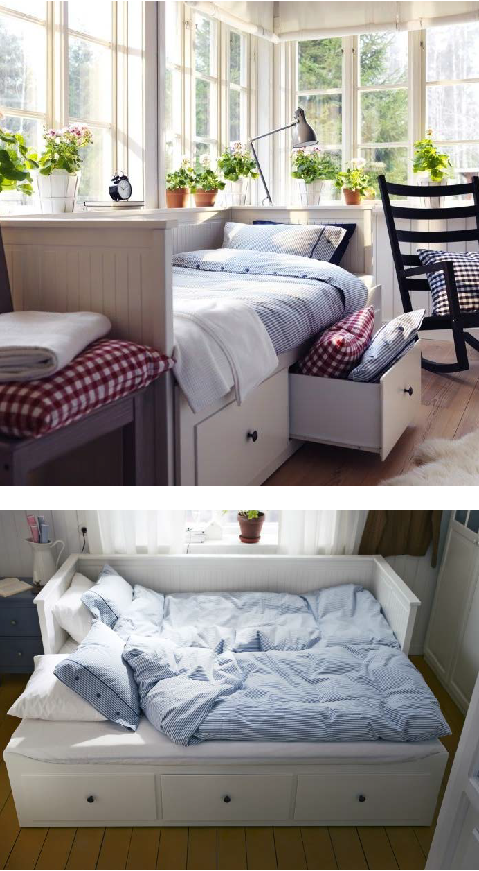 Create a cozy sleeping nook for company. Many of our