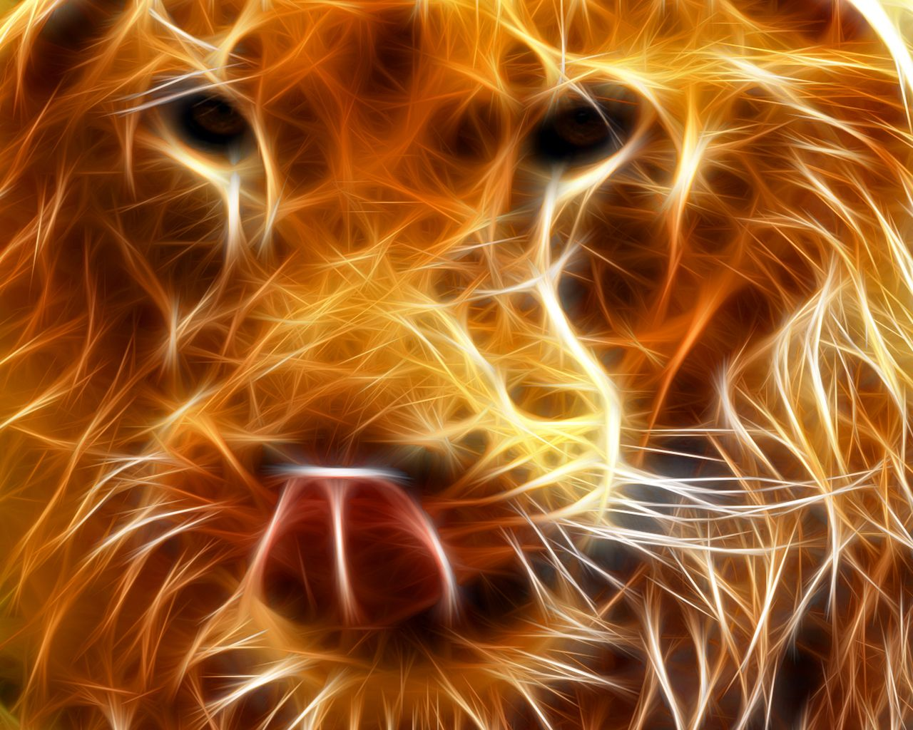 Lion To Download 3d Lion 2 Just Right Click On The Wallpaper Select Digital Art Photography Lion Wallpaper Animal Art