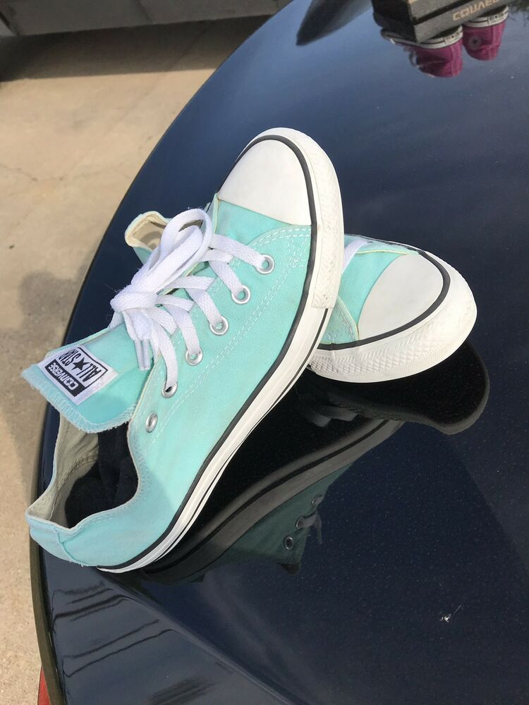 7e0dff5f103c CONVERSE Chuck Taylor All Star Low Top Shoes Unisex Light Aqua. Size 8 Men  10wo  fashion  clothing  shoes  accessories  unisexclothingshoesaccs ...