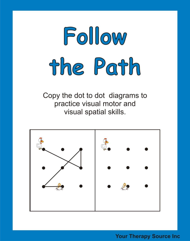 Visual Motor Worksheet Kindergarten