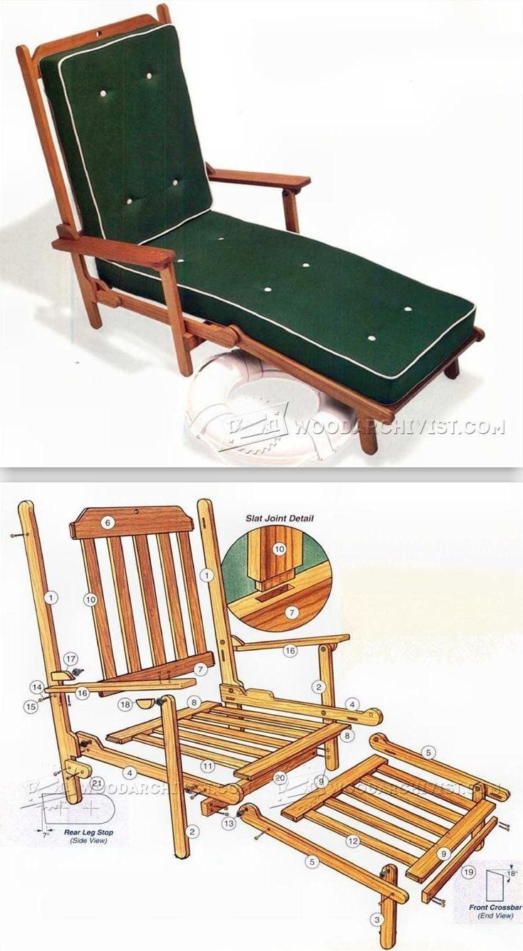 Deck chair plans outdoor furniture plans and projects