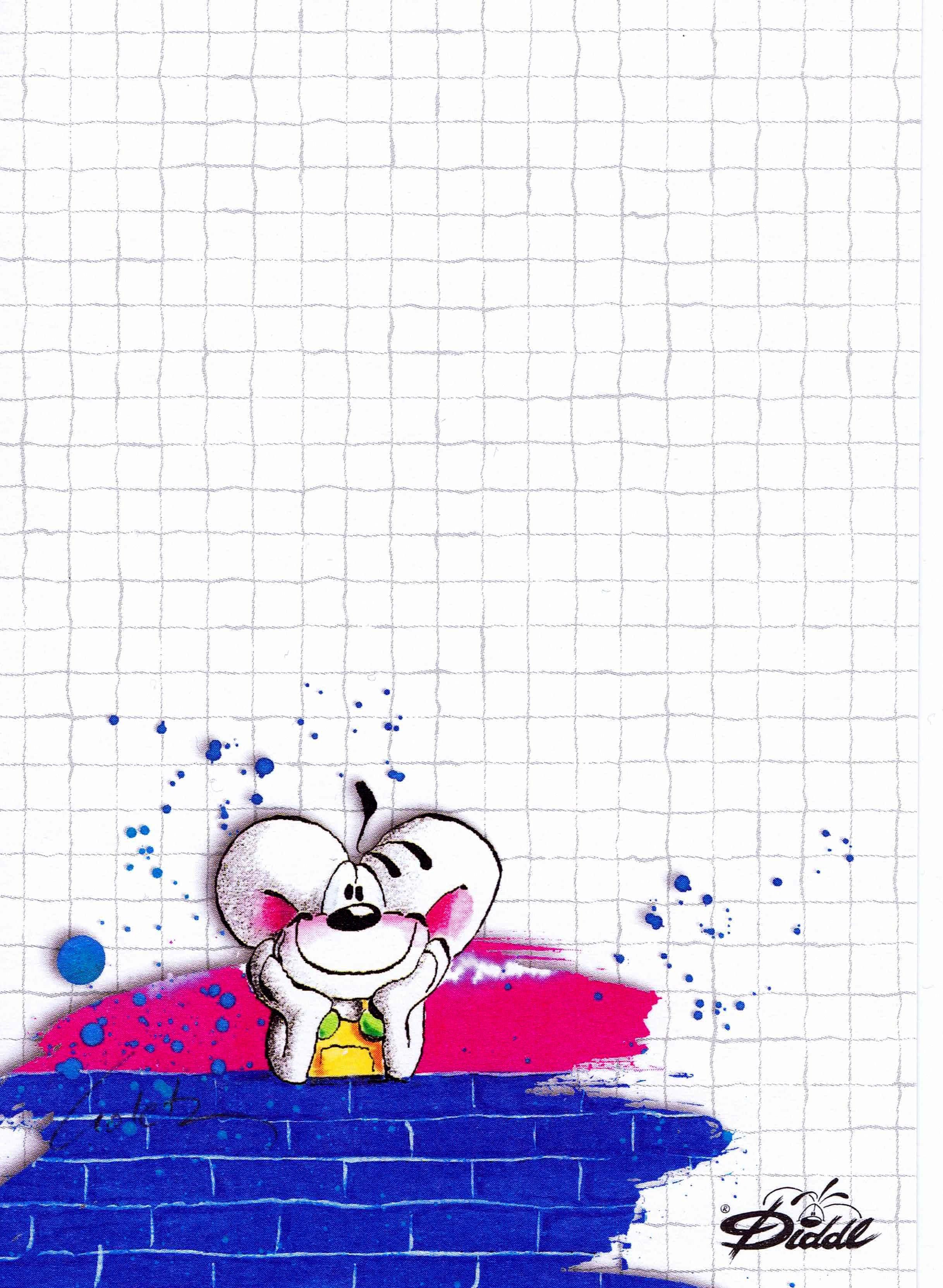 3 Diddl <3 | Шаблони | Pinterest | Hojas para escribir, Hoja y Papel