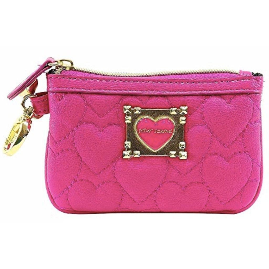 Betsey Johnson Be My Sweetheart Top Zip Small Wristlet Wallet - Pink