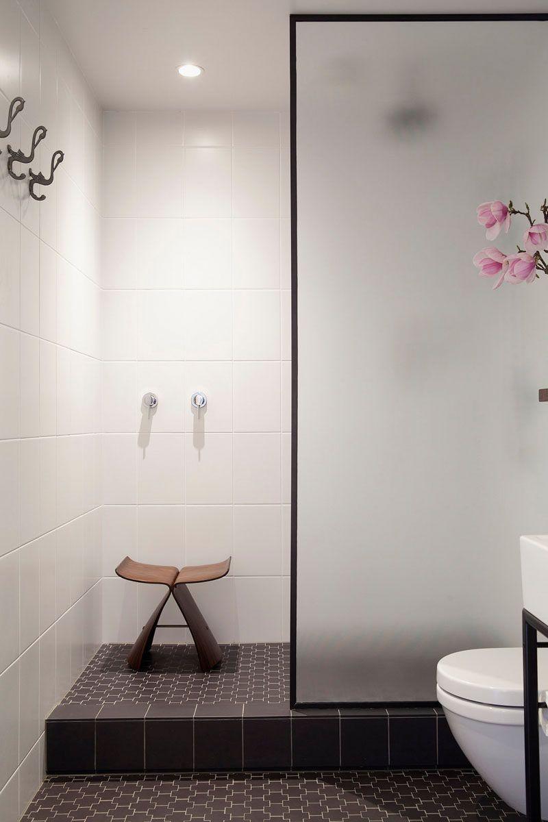 Bathroom Design Idea - Black Shower Frames | Black shower, Glass ...