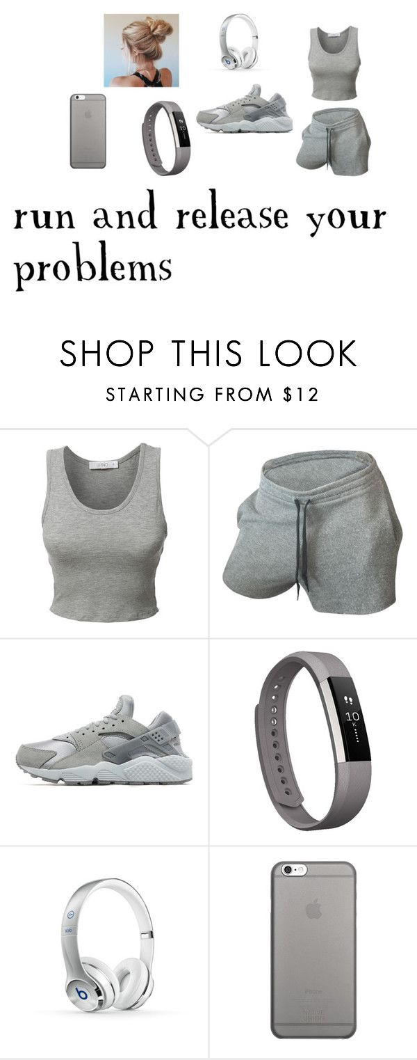 """""""run and release your problems"""" by naninais ❤ liked on Polyvore featuring interior, interiors, interior design, home, home decor, interior decorating, LE3NO, NIKE, Fitbit and Beats by Dr. Dre"""