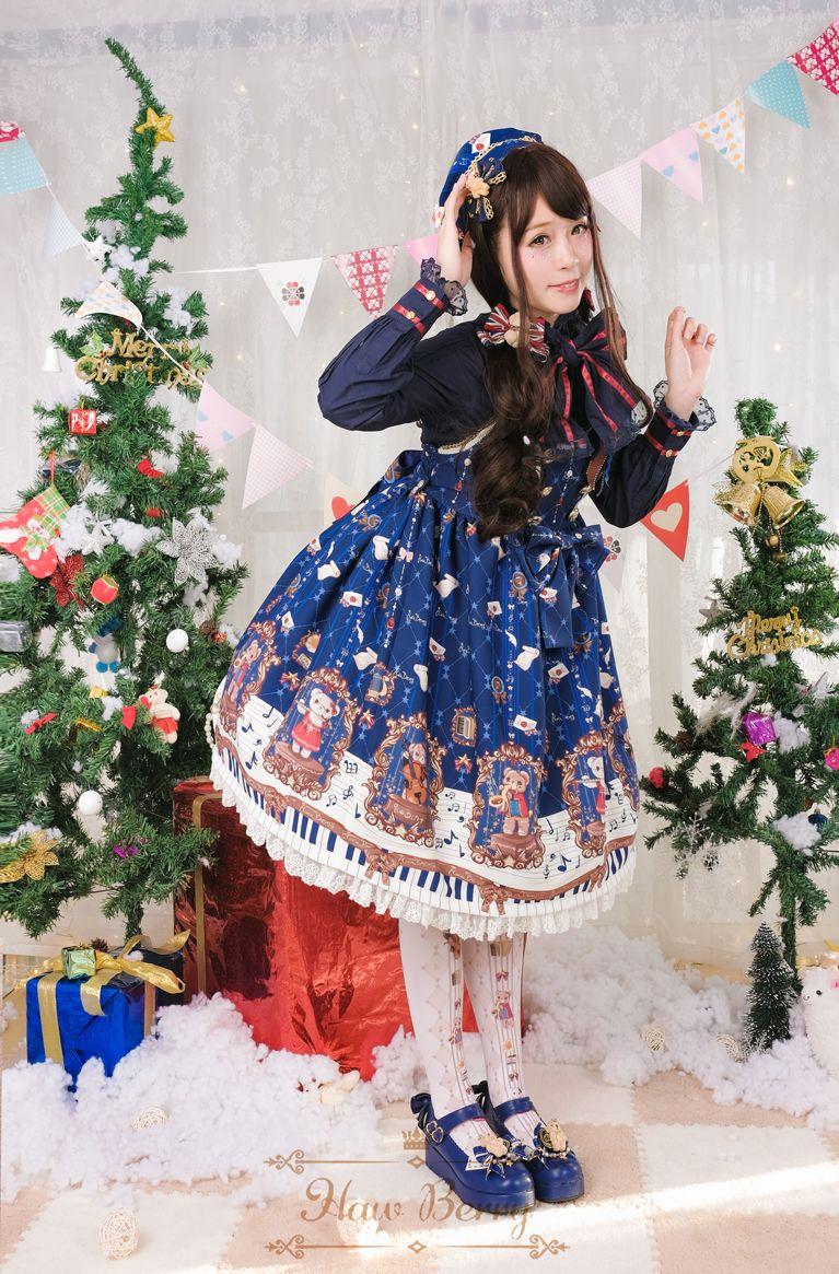 Haw berry the concerts of bears sweet lolita jumper dress lolita