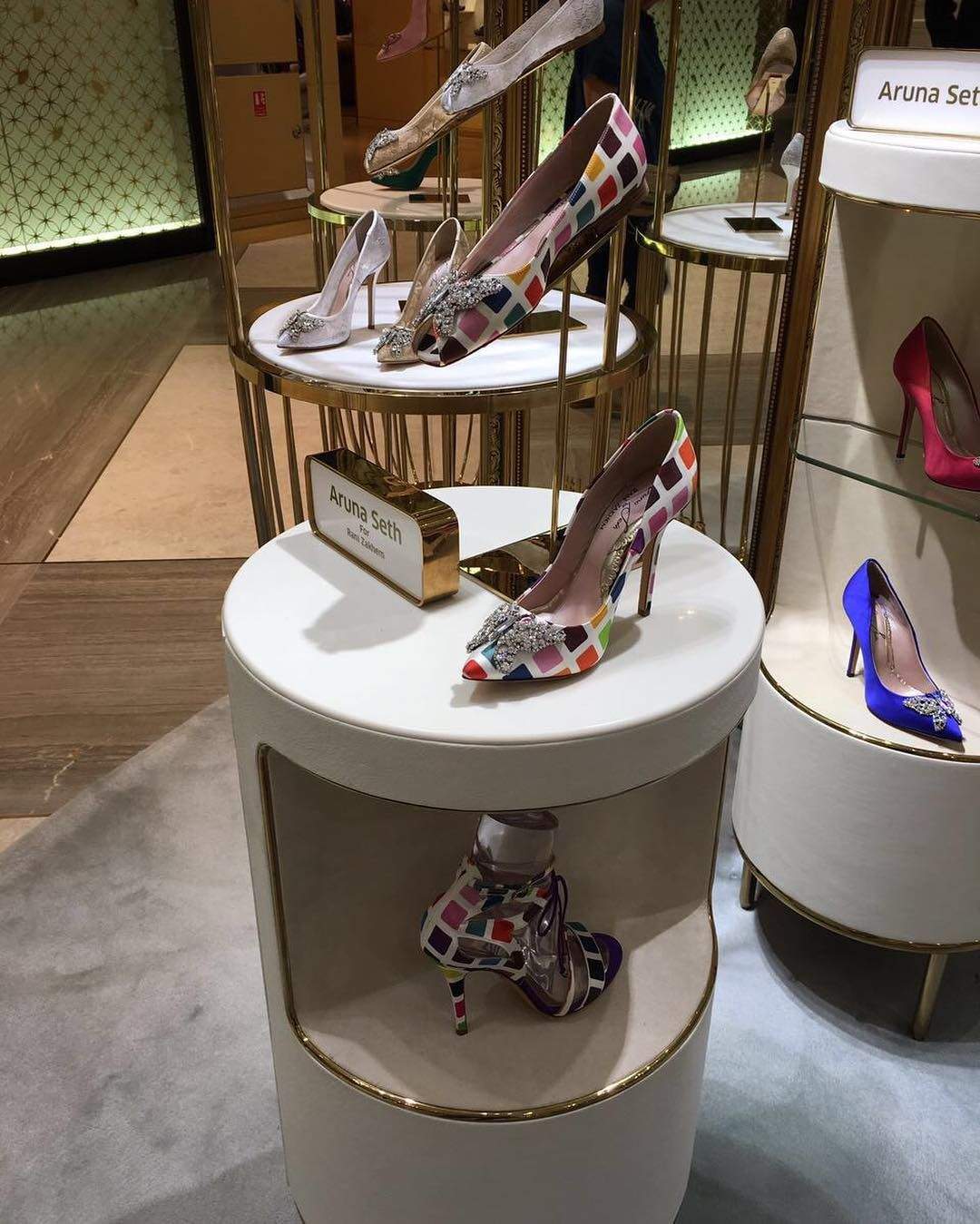 Aruna Seth London introduces the exclusive limited edition Rani couture collection in Dubai in LEVEL Shoe district. www.arunaseth.com