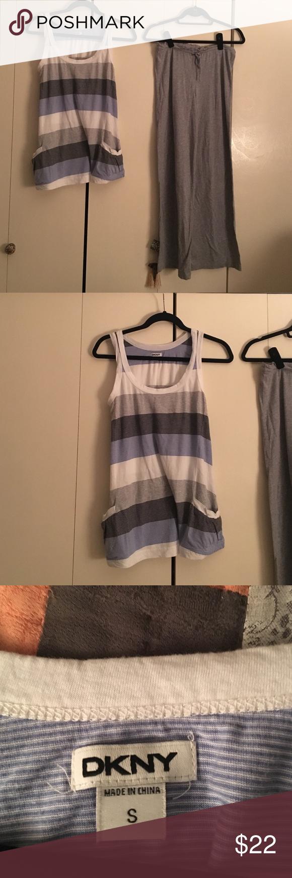 Pajamas DKNY cotton sleeveless pajamas worn once size small DKNY Intimates & Sleepwear Pajamas
