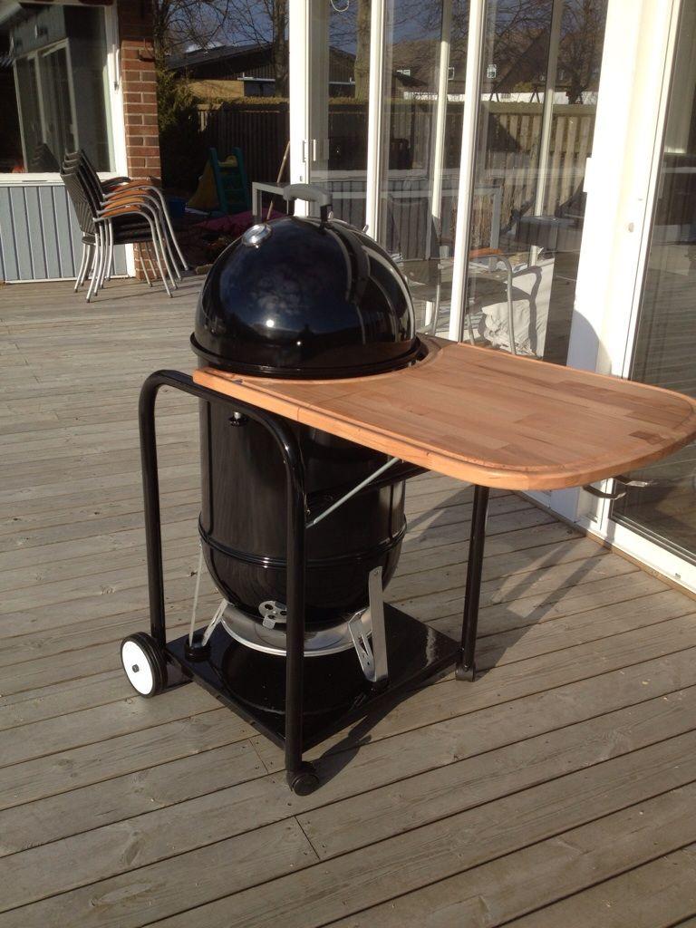 My Version Of A Wsm Table Weber Smokey Mountain Cart Weber