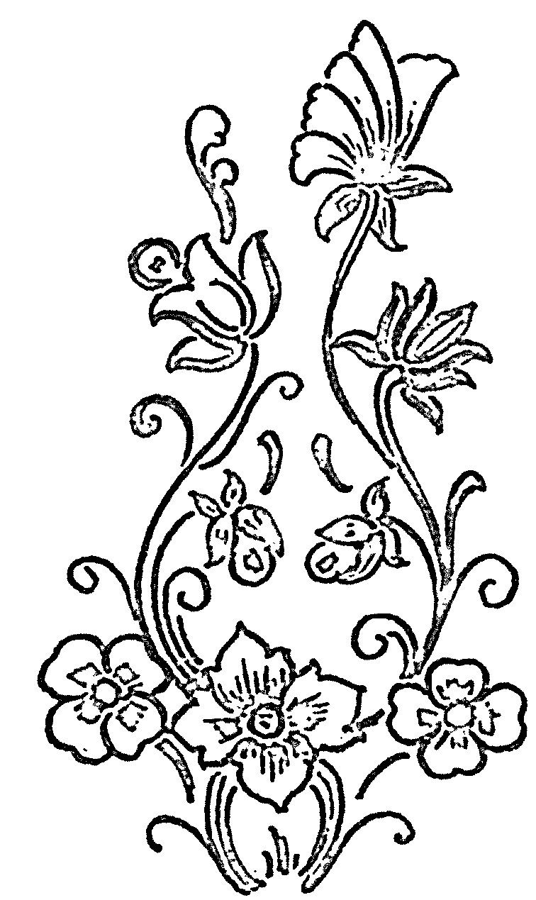 Flower Designs And Patterns Glass Paintings Patterns Designs