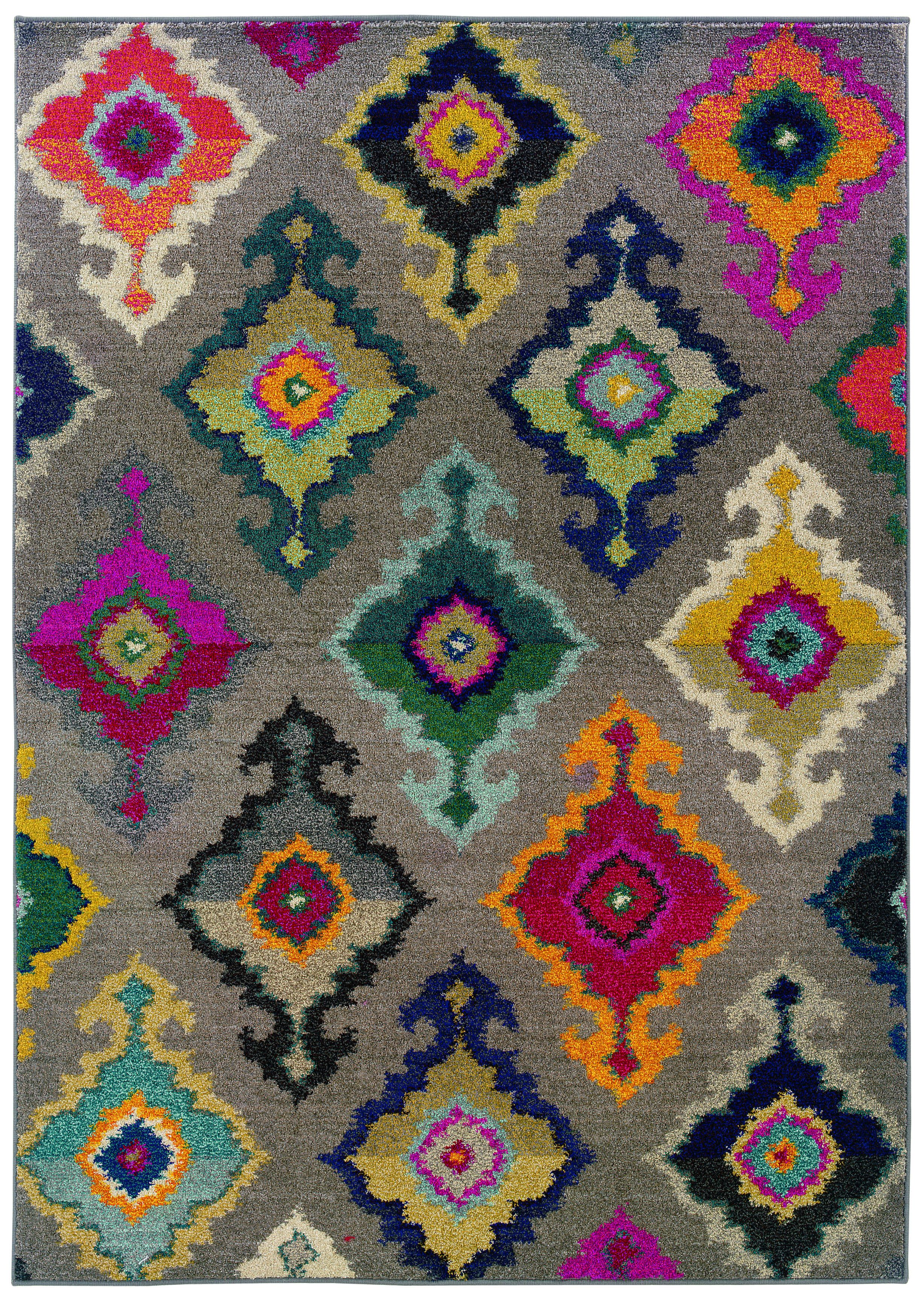 Kaleidoscope Grey And Multicolored Area Rug Dining Room Rugs