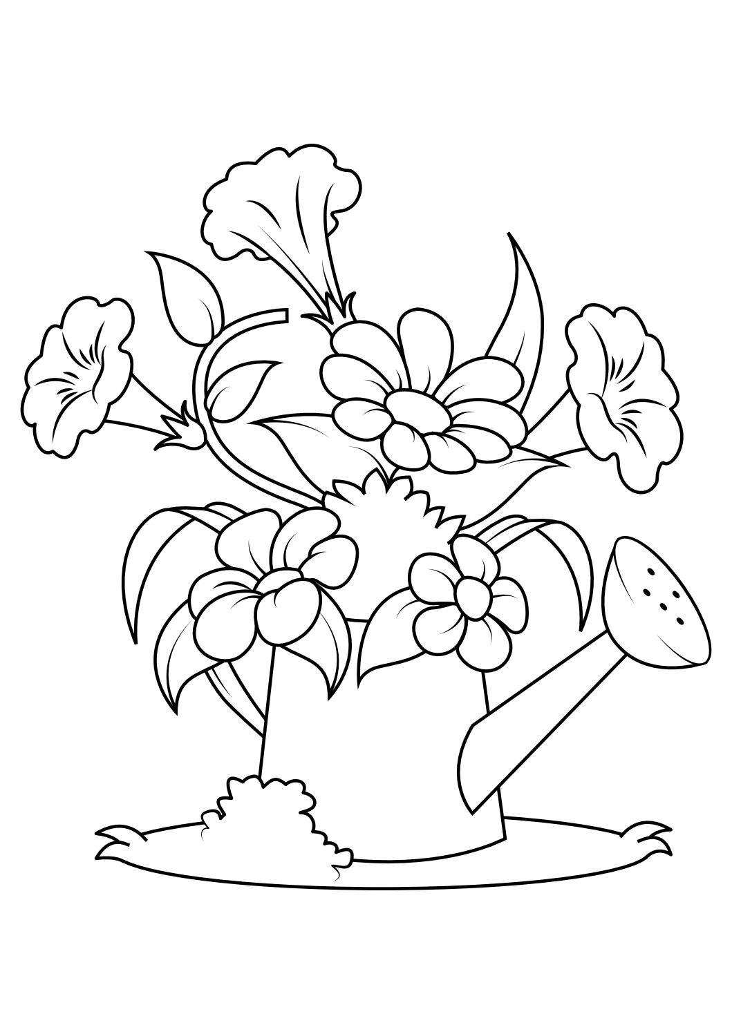Pin De Alalfia Worksheets Amp English T Em Flower Coloring Pages