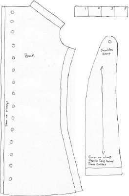 1820-1840 Corset Reproduction (All pieces of the pattern