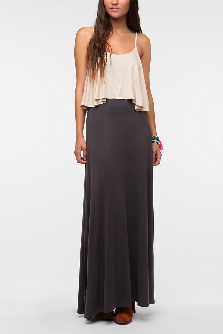 Staring At Stars Knit Layered Maxi Dress Wear Pinterest Maxi