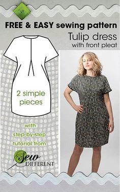 Tulip Dress Free Sewing Pattern Full Figured Fashion