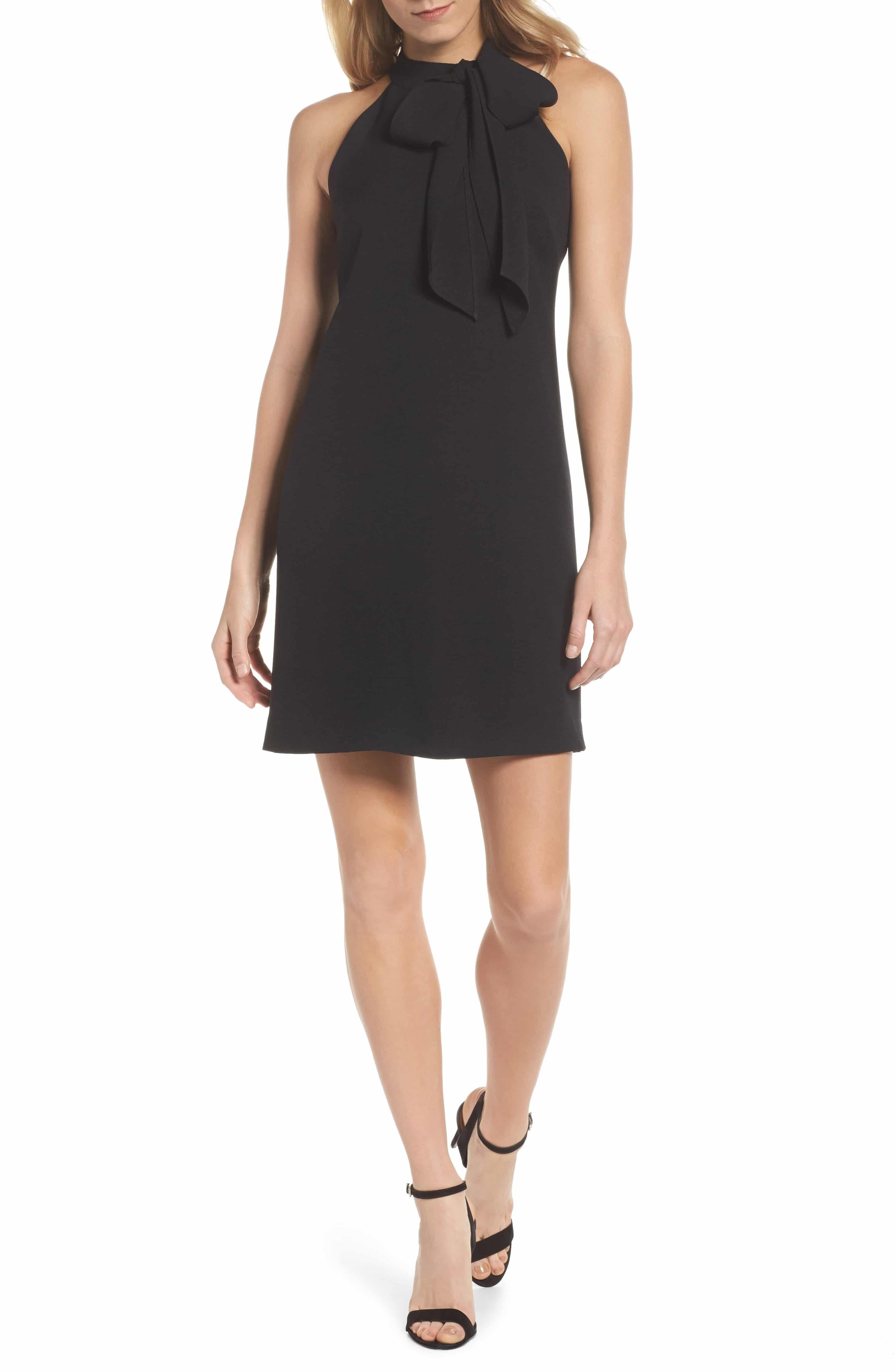 Vince Camuto Halter Tie Neck A Line Dress Nordstrom A Line Dress Trendy Cocktail Dresses Halter Cocktail Dress [ 4784 x 3120 Pixel ]
