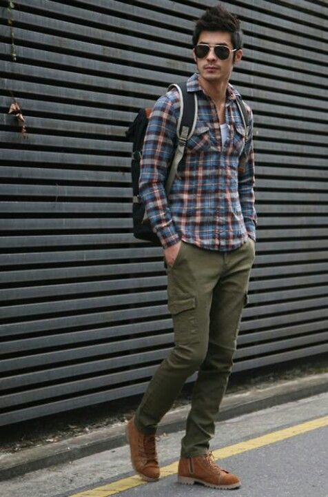 More Conventional Look For The Fall Fashion Green Cargo Pants