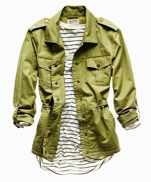 5a89c18c276f Gorgeous combination stripes and army light jacket
