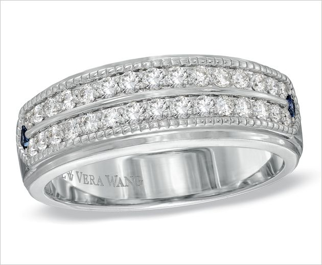 Sophisticated Vera Wang Wedding Bands For Grooms Diamond Wedding
