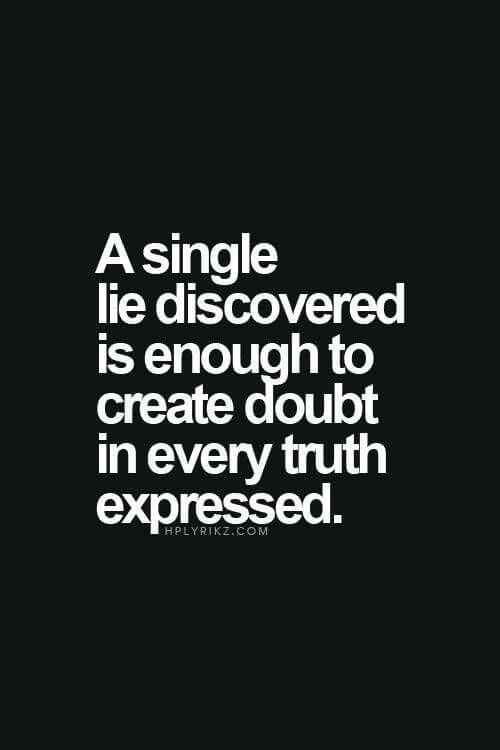 Doubt Quotes Entrancing Pinlisa Lacy On Well Said  Pinterest  Betrayal Truths And