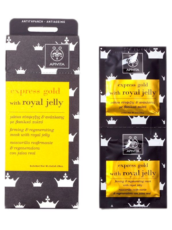 Best For: Travel-weary Skin How It Works: Pack these handy to-go masks in your bag for plane rides and travel to high altitudes. Formulated with royal jelly, a buzz-worthy ingredient that increases skin elasticity, honey, wheat protein and neroli essential oil, each packet is your daily protection against the drying elements. Aptiva Express Gold Royal Jelly, $10, aptiva.com. Courtesy Aptiva  - HarpersBAZAAR.com