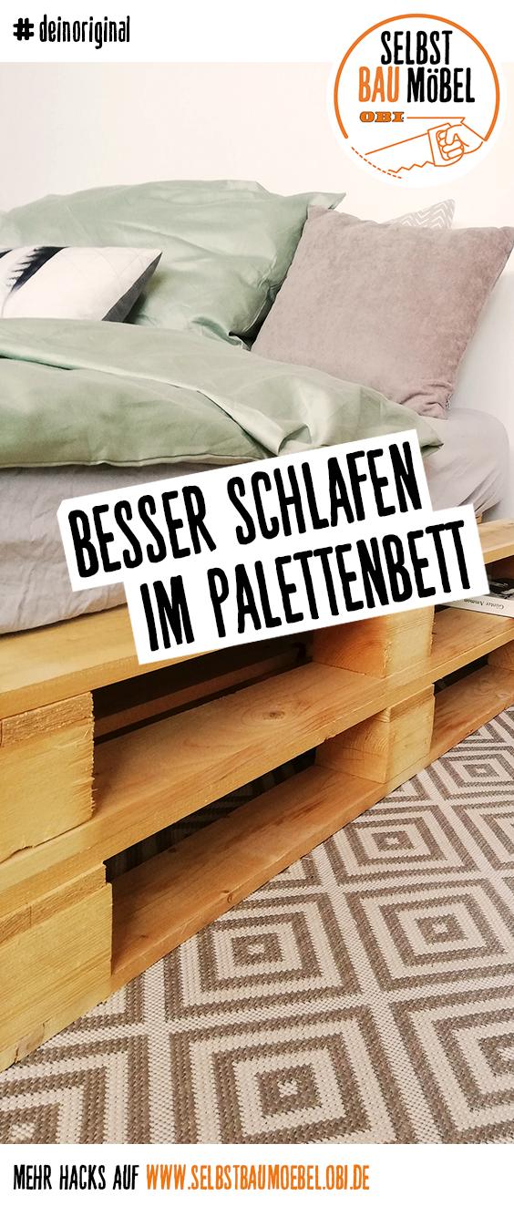 Bett Parchen Create By Obi Palettenbett Bett Selber Bauen Bett