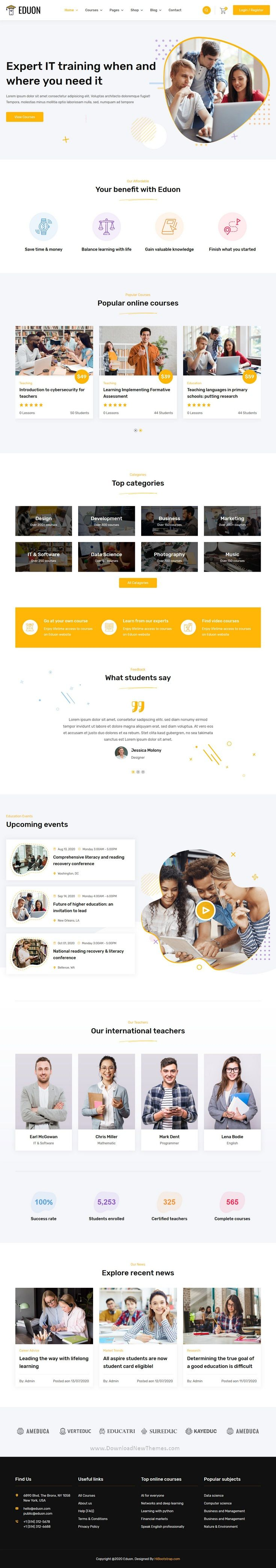 Eduon - Online Courses & Training HTML Template