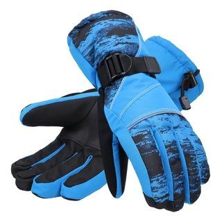 a5b598775 Men's Abstract Deluxe Touchscreen Sport Ski Glove (Blue - L ...