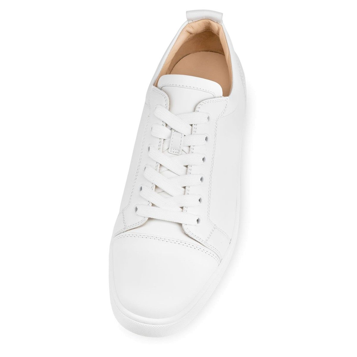 Louis Junior Men's Flat White Leather - Men Shoes - Christian Louboutin