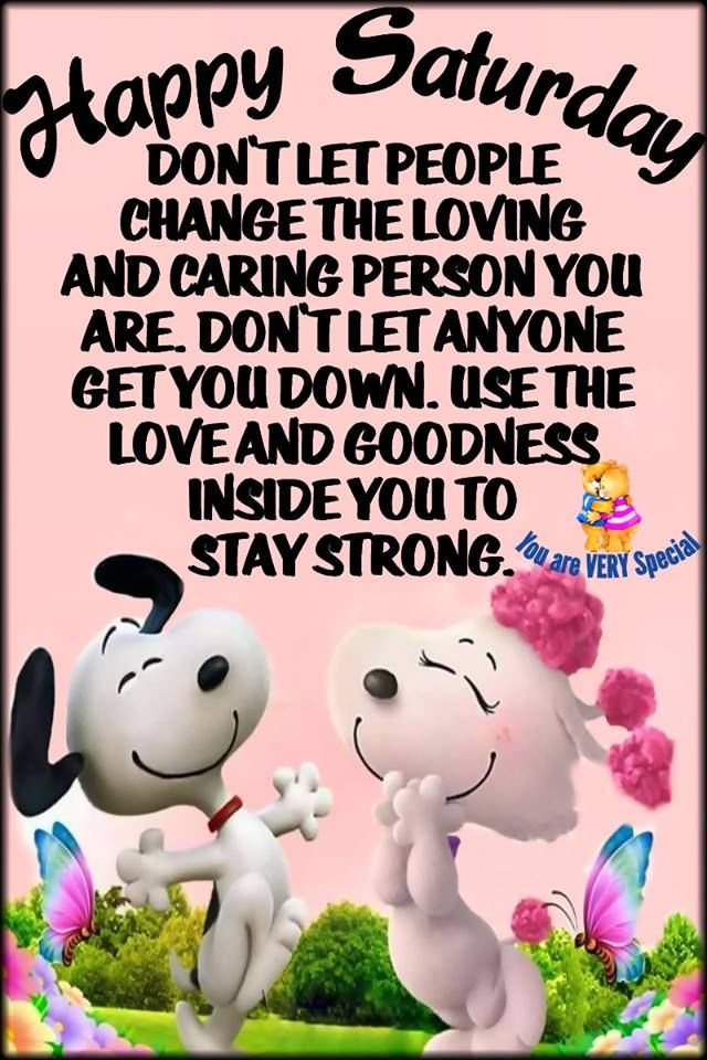 Mr And Mrs Snoopy Happy Saturday Quote