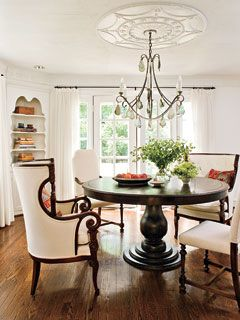 Mismatched dining room