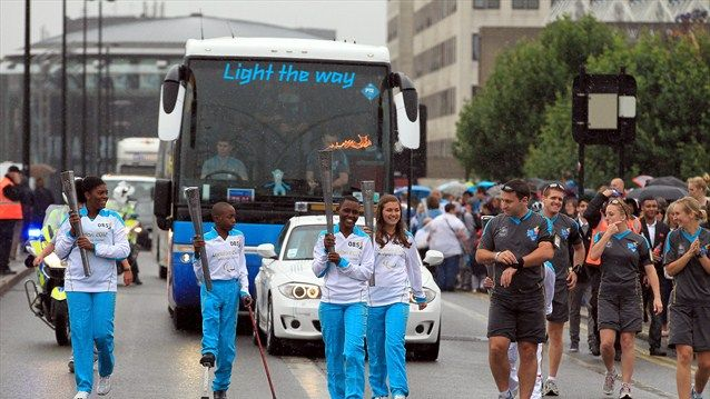 Three young people from London 2012's international sports legacy programme, International Inspiration, Mary Tarimo, Erica Kouassi, Anthony Kipps were given a once in a lifetime opportunity as they joined Morwenna Spencer and Osman Hussain,carrying the Paralympic Flame on the #Torch Relay leg between Lambeth and The City of London.