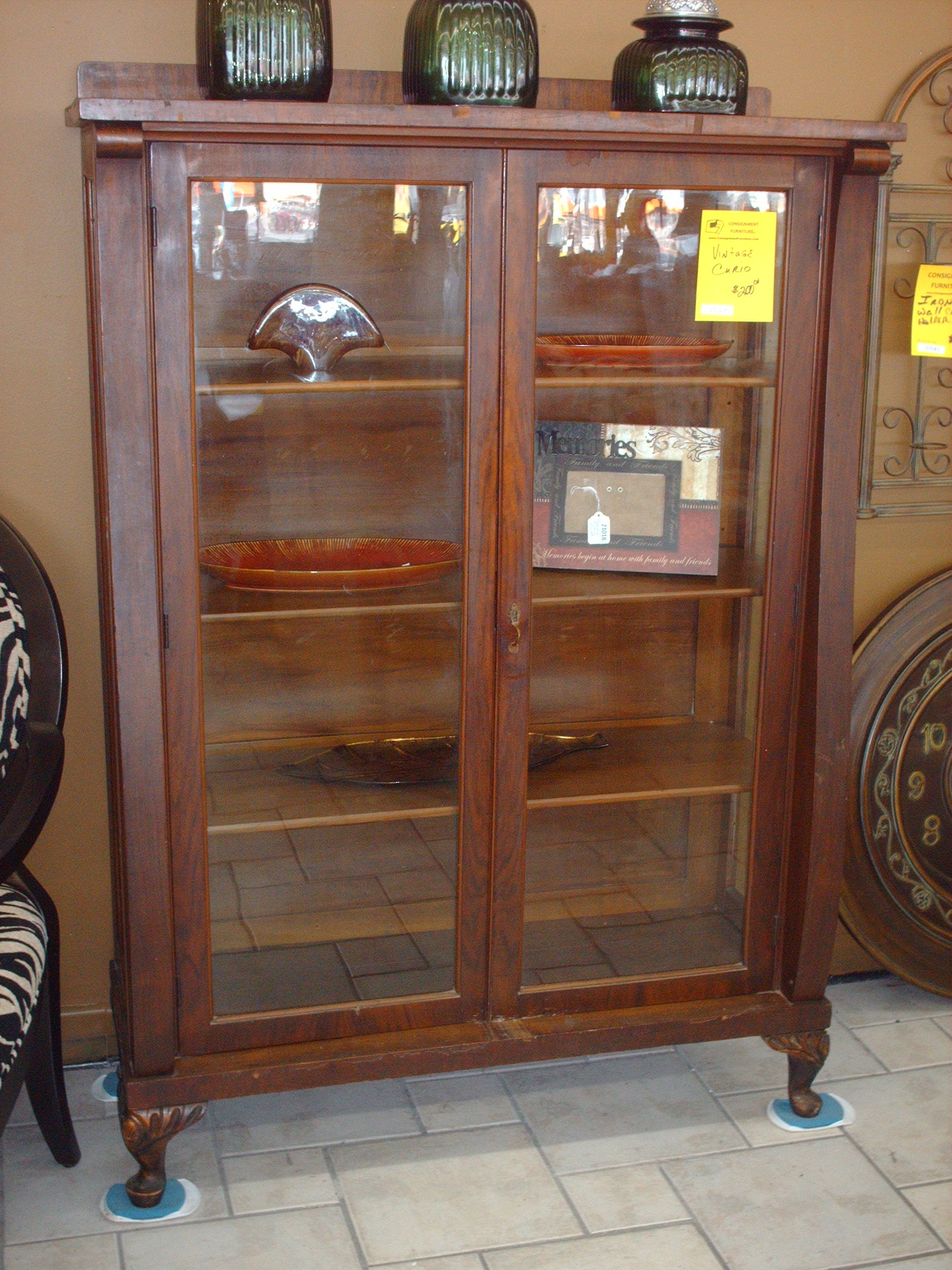 Charmant Consignment Furniture | Vintage Curio Cabinet SOLD   Consignment Furniture    Tulsa, OK