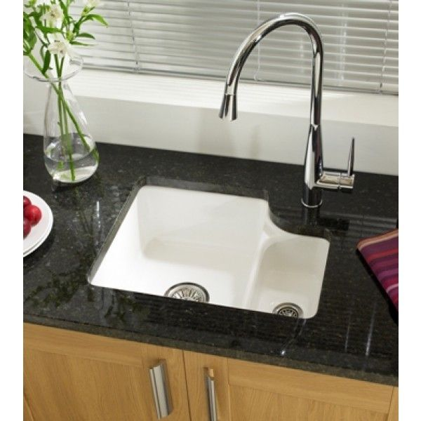 Astracast Lincoln 1 5 Ceramic Undermount Sink Gloss White Ln15whhomesk Ceramic Kitchen Sinks Undermount Kitchen Sinks White Kitchen Sink