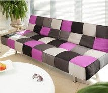 modern patchwork, #designtrend, decorating, furniture, sofa, couch, modern, purple, gray, black