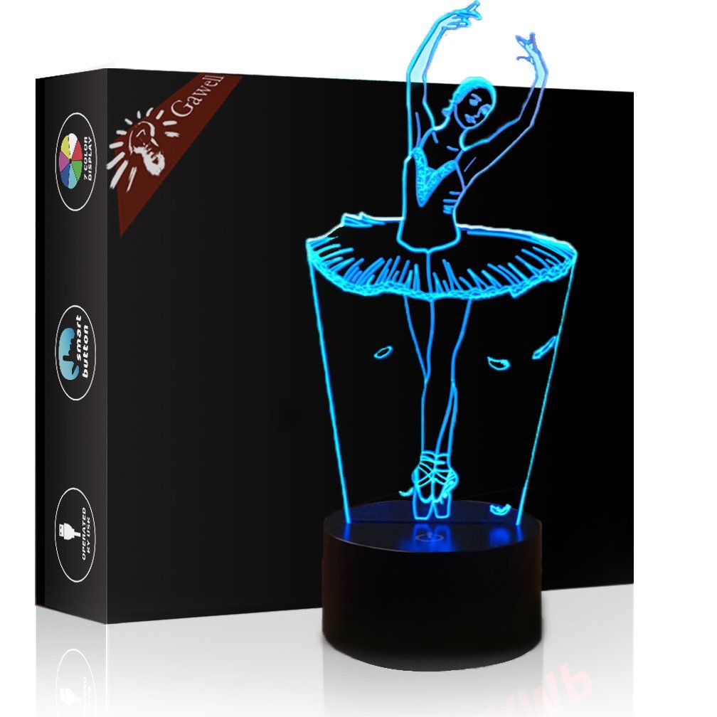 Christmas Gift Ballet Dancer Girl 3d Illusion Lamp Night Light Gawell 7 Color Changing Touch Switch Table D In 2020 3d Illusion Lamp 3d Optical Illusions 3d Illusions