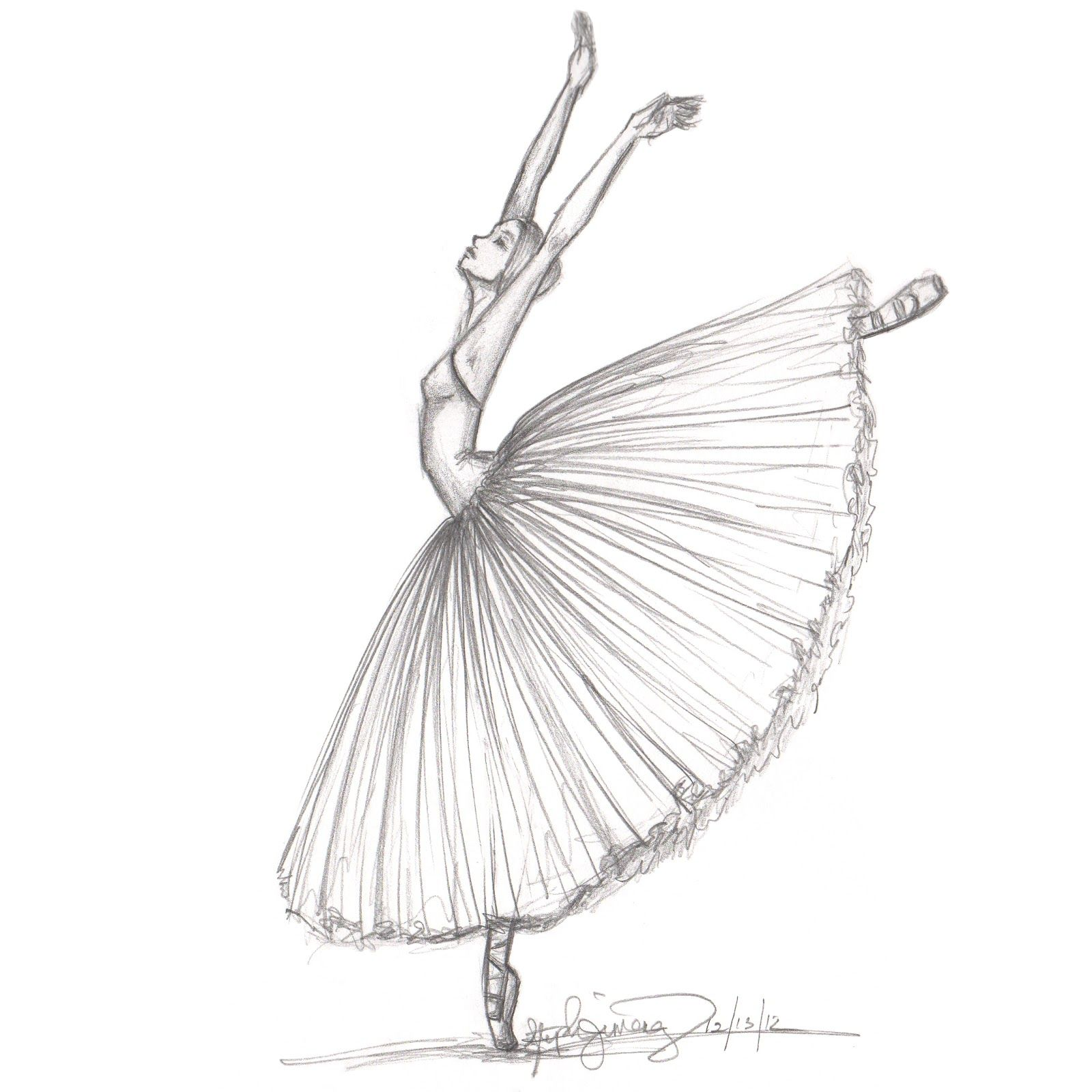 Fashion Illustration Inspired By The Ballet Giselle By