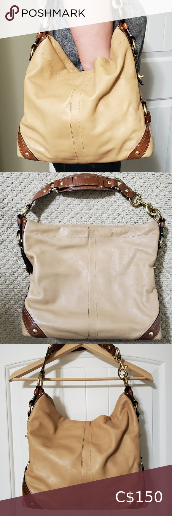 Coach Carly bag in tan leather