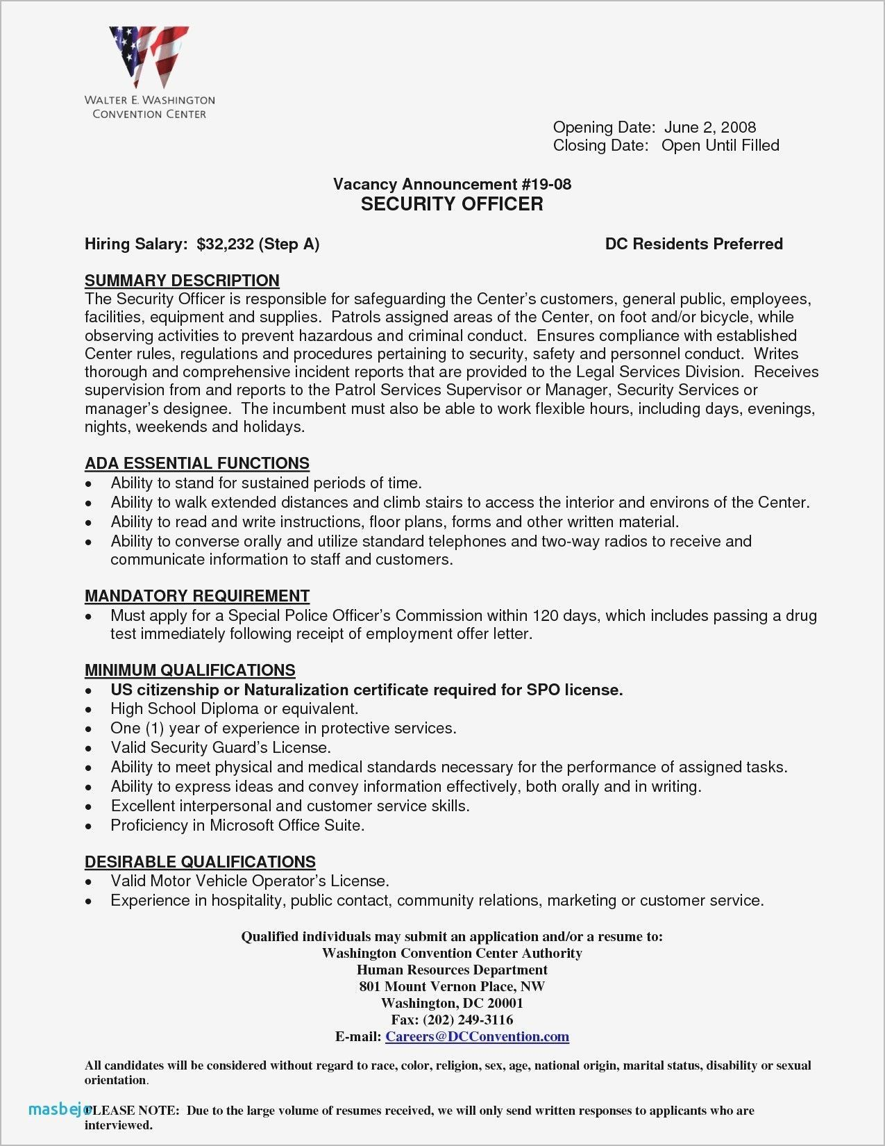 Correctional Officer Resume Objective New Pin By Waldwert Site On Resume Formats