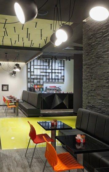 Wok Burger Restaurant Zagreb Croatia Designed By Ade Studio Restaurant Lounge Restaurant Design Interior