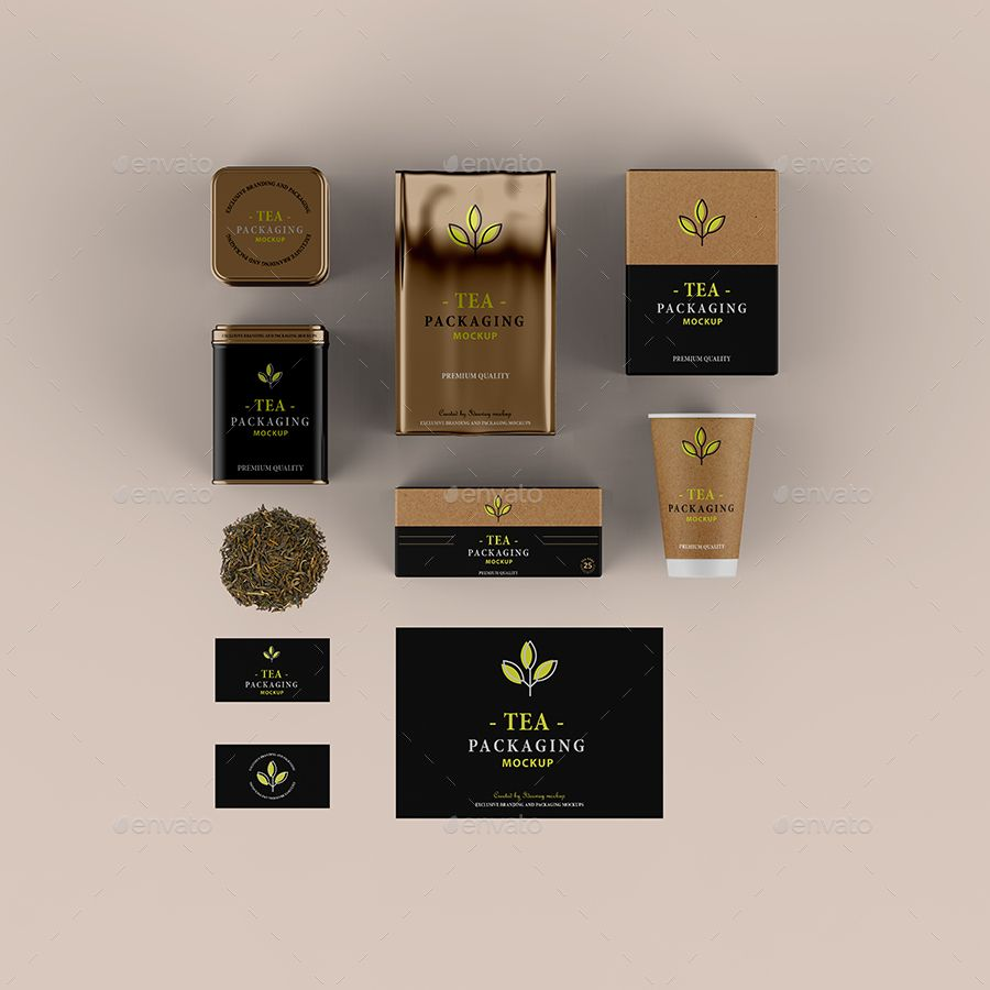 "Download Tea Packaging Mockup Tea Packaging Mockup ˔""자인"