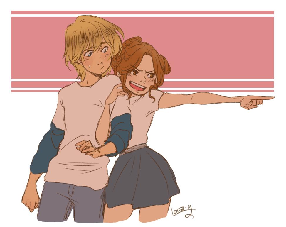 Брат и сестра рисунок арт