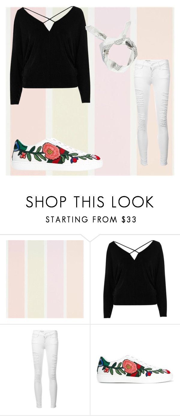 """Untitled #433"" by outfits614 on Polyvore featuring River Island, Frame, Gucci and Boohoo"