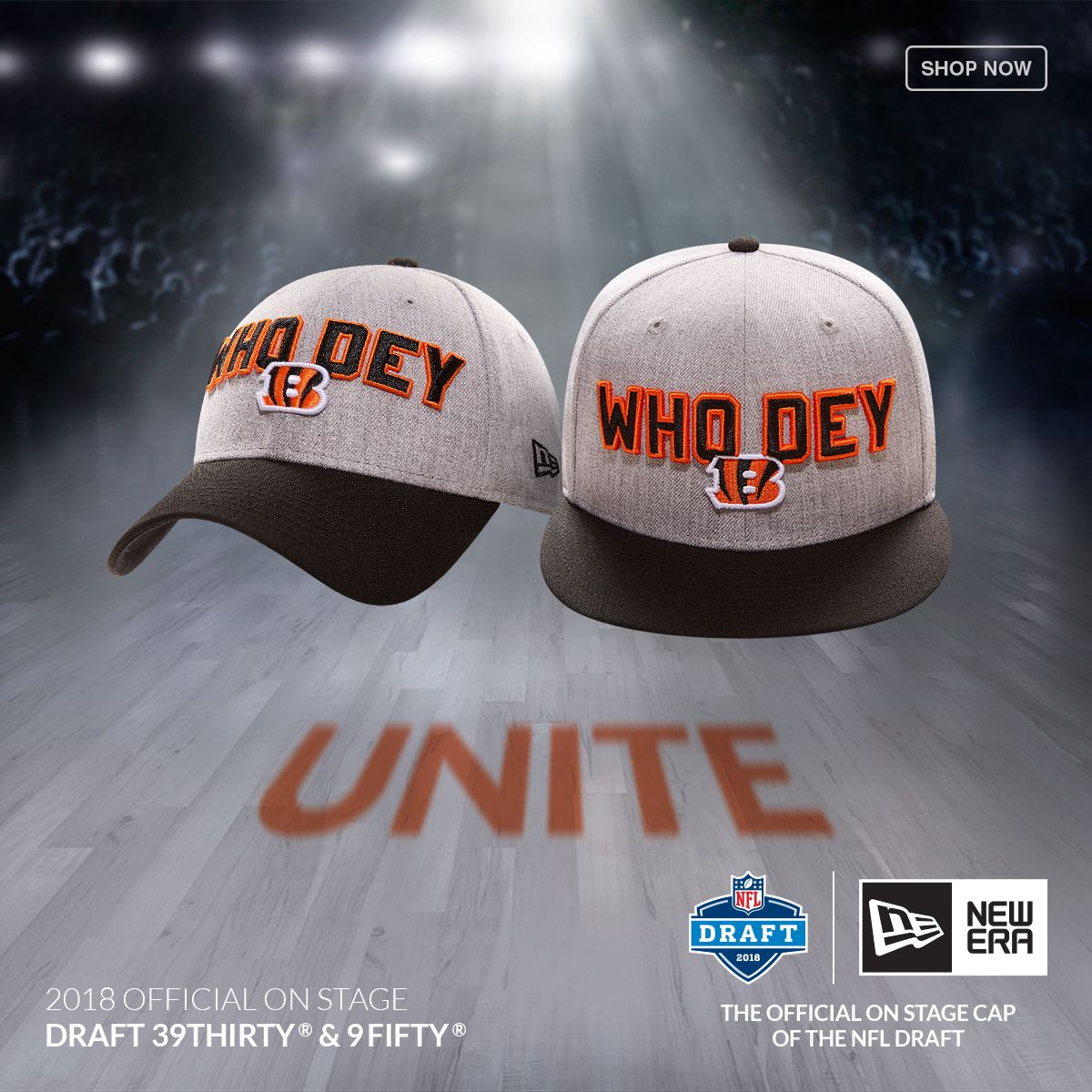Get ready for the draft with the New Era 2018 NFL Draft Cap at Lids ... 57f912e1f35
