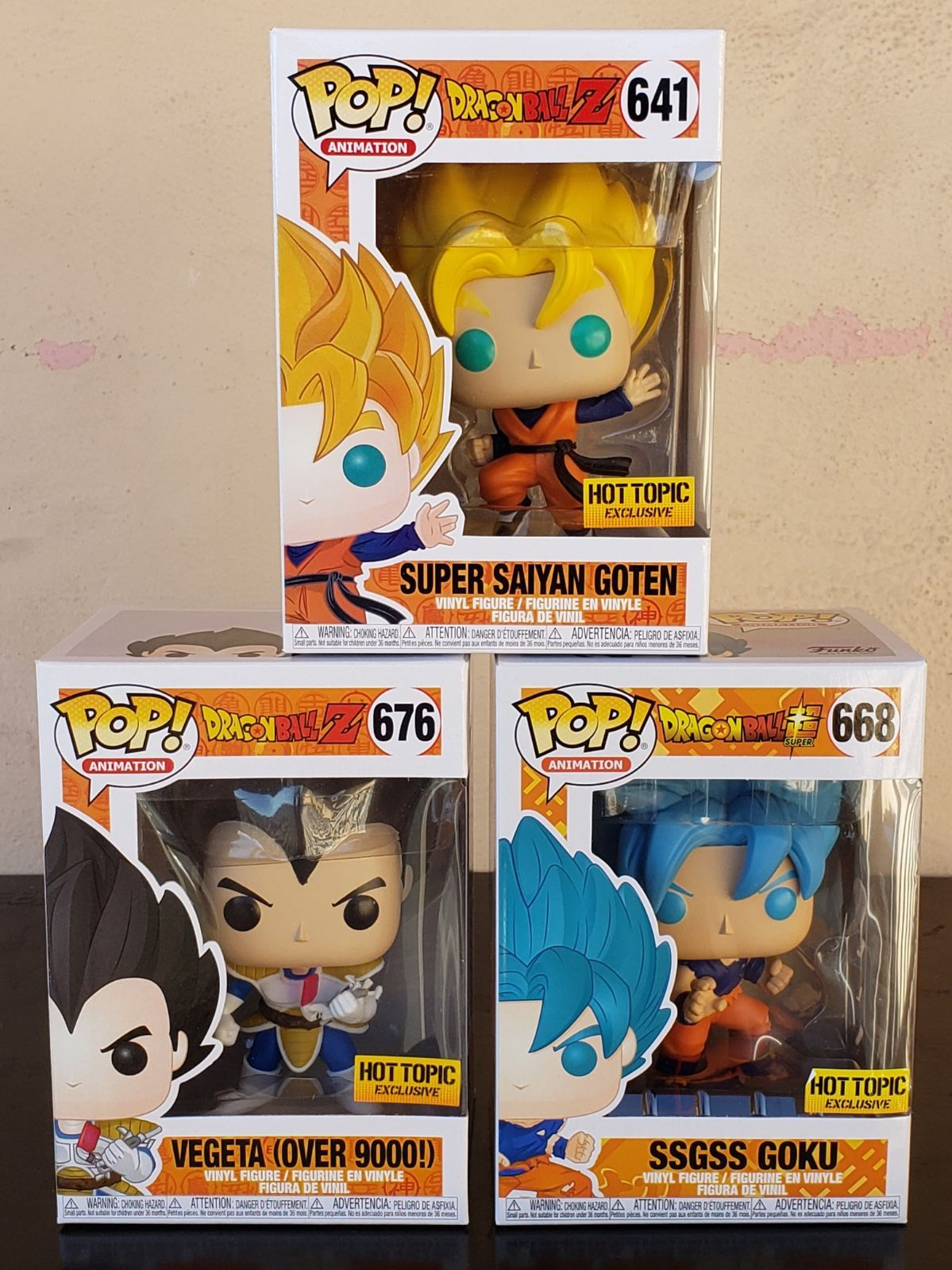 Brand New In Mint Condition Funko Pop Dragon Ball Z Will Be Shipped In Sorter Boxes Super Saiyan Goten 641 Vege Funko Pop Chase Goku And Gohan Vinyl Figures
