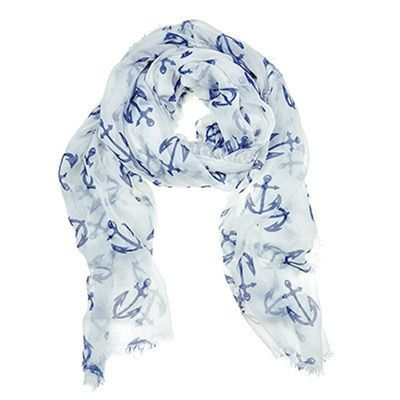 Anchor Scarf from Julie Vos : lightweight, and super soft, this perfectly accessorizes breezy afternoons and warm summer nights
